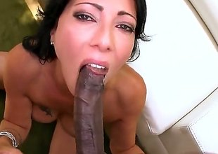 Sex starved babe Zoey Holloway with sexy rear end and neatly shaved pussy likes getting the brush space stilted by big black cock. Coal-black gross cock brings the brush to the edge of nirvana!