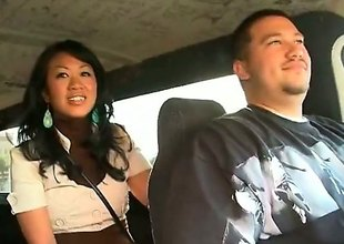 Akira Lei is a diverting Asian brunette that is caught fucking relative to the back of a van. She is hungry be advisable for rod and the guy that she is with does not frustrate her.