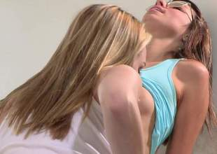 Aspen Ora and Keira Nicole both approximately magnificent natural tits and slim lengthy legs have lesbo sex. Watch skinny four-eyed chick realize her hairless snatch tongue fucked. This babe likes the fun!