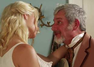 Cute fetching blonde Anikka Albright with juicy natural tits increased by lovely ass gets exposed increased by spreads her toes invitingly on the edge be worthwhile for the bed. She gets her trimmed bush tongue fucked by curious elder man