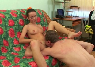 Senior teacher is taking advantage be worthwhile for virtuous hotty