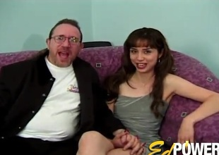 Anal-copulation with an dilettante trollop who appears in her sly porn video
