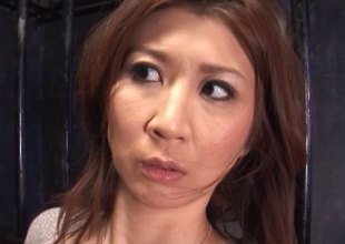 Asian slave girl in a jail cell is controlled and used hard by ragtag