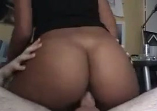 Spunky with the addition of vivacious darksome chick with a round booty loves to fuck