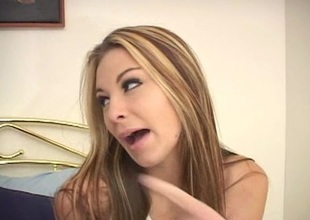 Blistering cunt licking whores toy fucking pussy prevalent bed