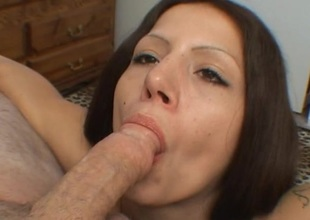 Capri acquires a good throat fucking and swallows his hot load