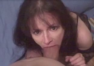 Mature hooker sucks my powerful cock until she gets the jizz she wishes