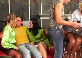 Horny pornstars in a Group Hrdcore Sex While Keeping Their Raiment On!