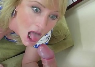 Pretty blonde sucks some pussy while getting hers nailed thoroughly in a FFM sexual intercourse