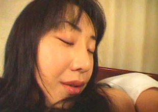 Radiant Japanese amateur can't live without getting her tits squeezed while unrefined drilled