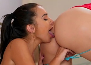 Perfect lesbian encounter for hot Kharlie Stone