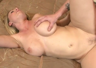 Horny blonde hoe Devon Lee gets nailed hard on every side bedroom