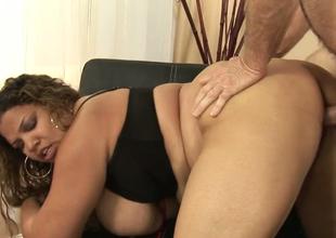 Dissolute BBW with big boobs Carmella Enjoyable gets drilled hard