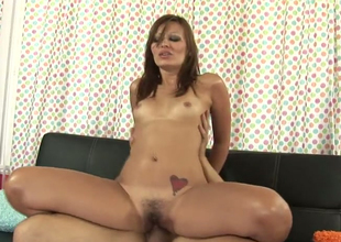 Sweet hussy Crissy Moon opens her Victorian pussy be beneficial to hard dick