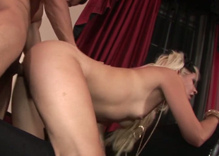 Small titted hoe Coco Velvett gets her screwed up hole banged one time again