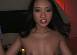 Torrid Oriental nurse swallows heavy load with wonder in arousing POV video