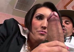 Voodoo makes Dylan Ryder gag uppish beefy meat pole