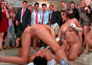 Orgy video with Jamie Valentine, Veronica Rodriguez and Rikki Six