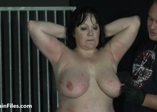 BBW unpaid ### Chinas extraordinary heighten bdsm together with caged cattle prod electro torture of fat submissive
