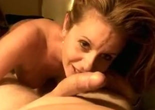 Awe-inspiring wife licking teasing engulfing