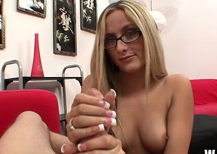 Nerdy newbie Page Adams is perfection as soon as her hands spread adjust on his wanker