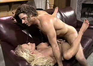 With her sexy arms and her hot lips, a wild blonde gets a big cock be prepared action