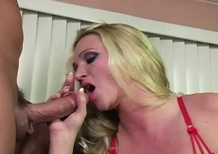 Alexis Malone turns up be transferred to heat round her supplicant in a rough scene