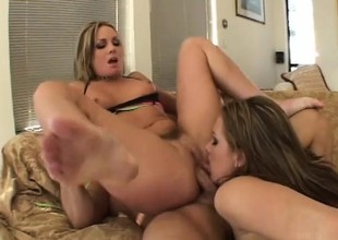 Captivating hot stuffs can't accept a minute without hard and rigid cock