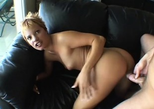 Simmering blonde Emily Vanili can't realize enough of a hard cock not far from her pussy