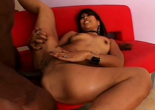 Distance from beauty gets pounded till she's sore by a big black cock