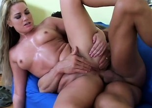 Naughty young mart Flower Tucci loves to take a distress weasel words deep back her anal hole