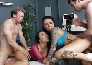 Groupie unfocused & hospital nurse start fuckfest with two band liberty