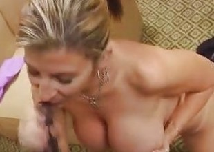 Milf Sara Monkey around Sucks A Big Cock