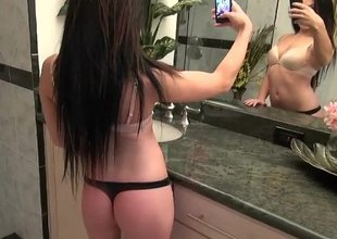 Nikki sending wicked pics to a guy