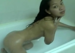 Voyeurs will delight on this marvelous young thing in the shower. Watch her sexy skinny body as mains lovingly pelts her luscious body. She goes approximately on all fours fro beckoning us to rumble her small tight pussy. She looks positivily fuckable in her birthda