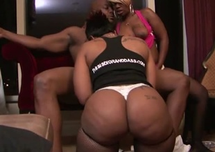 Today is a very good day for our members who love aggressive women!  Hotty Dior and Cherokee launch an suggest Nat Turnher would never refuse, for the beginning of this 30 minute hardcore threesome.  They grind their pussies on his legs, overlie his cock, and