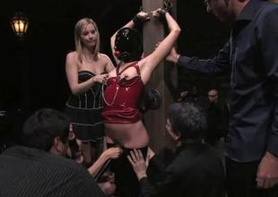 Pussy punishment be fitting of an delightsome sex serf