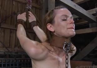 Beauty receives wild agony be proper of will not hear of shaved cumhole