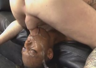Darksome Angel Getting Her Face Falling apart By White Dick
