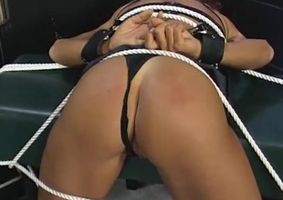 Bent over and fastened submissive fucked from behind