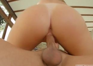 Blonde expensive takes a doggy position creampie
