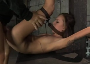 Bound young lady fucked by a chest be worthwhile for males