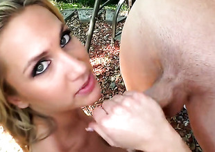 Blonde Alanah Rae cant resist the desire to take rock lasting love roughneck deep down her throat