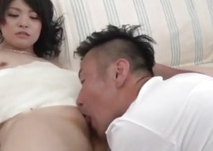Small tits wife, Rei Asamiya, pumped to serious motion