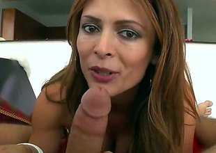 Monique Fuentes is a hot brunette milf that is giving a blow job. She has large bumpers close by pointy nipples and we as well as see her getting a mamma fuck here.