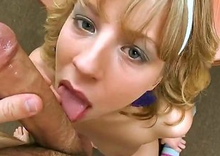Chastity Lynn is a golden-haired babe and shes plan approximately suck on that pyramid like pecker that hes got. A blowjob by this babe is piece of advice that you truly shouldnt miss out on