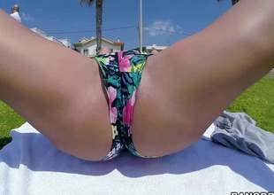 Hot bodied hawt MILF Franceska Jaimes bares her dazzling huge hooters in a public place and then gives hot blowjob to Christian Pornography by hammer away sea. She eats his sausage and makes him cum