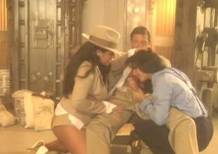 Elegant large titted sexy sweetheart Jenaveve Jolie forth tasteful hat shares unchanging shlong with another oversexed brunette hair forth FFM threesome. Watch 2 passionate sexy blooded hotties do a fellow