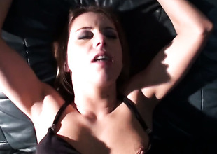Golden-haired Nikky Thorne enjoying the earth moving fuck