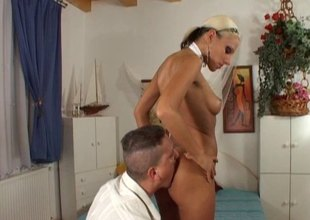 Vera lets him suck her toes in fine fettle deepthroat fuck her